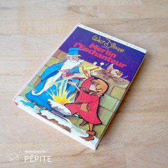 livre-vintage-merlin-disney