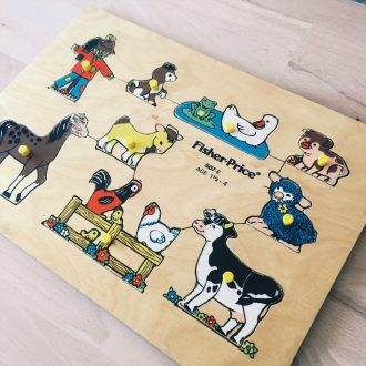 jouet-vintage-bois-durable-fischer-price-la-ferme