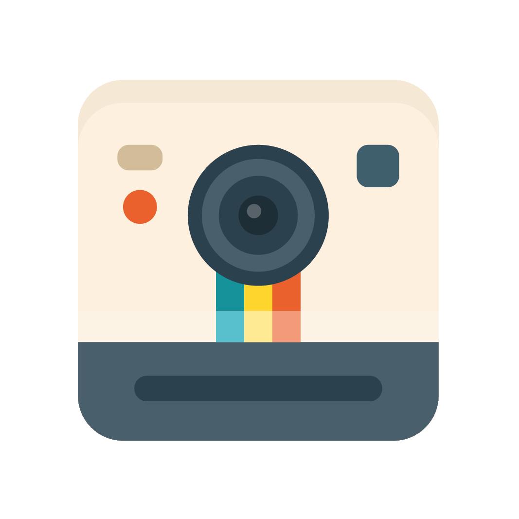 appareil photo vintage argentique polaroid