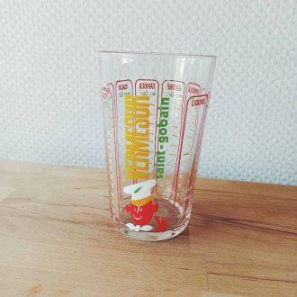 verre mesureur doseur vintage