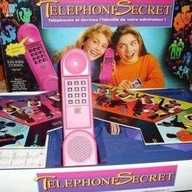 jeu de société vintage téléphone secret