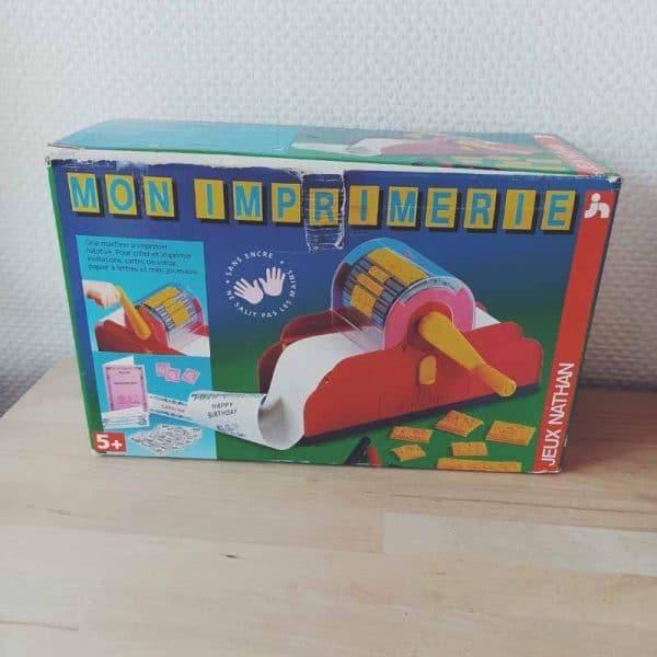 mon imprimerie vintage jeu vintage 90's