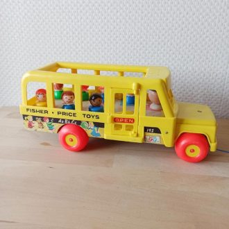 fisher price vintage bus school