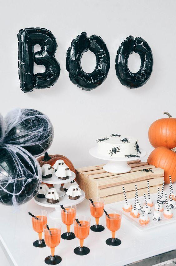decoration table halloween kids enfant