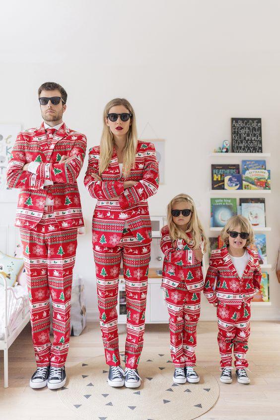 christmas family noel famille deguisement